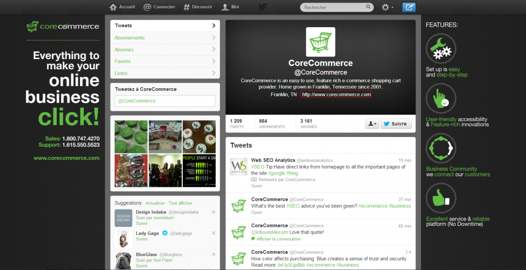 Agence de design de profil social twitter