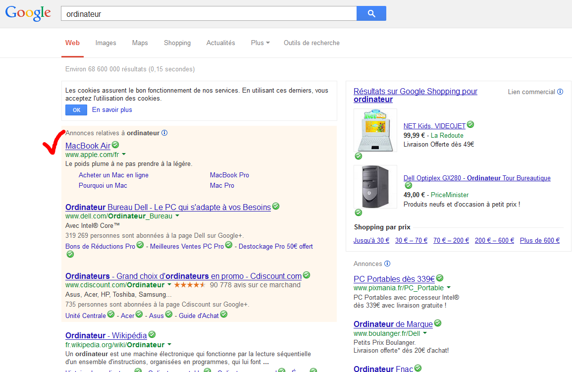 Le not provided force a utiliser Adwords